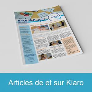Lien vers les articles de et sur Klaro