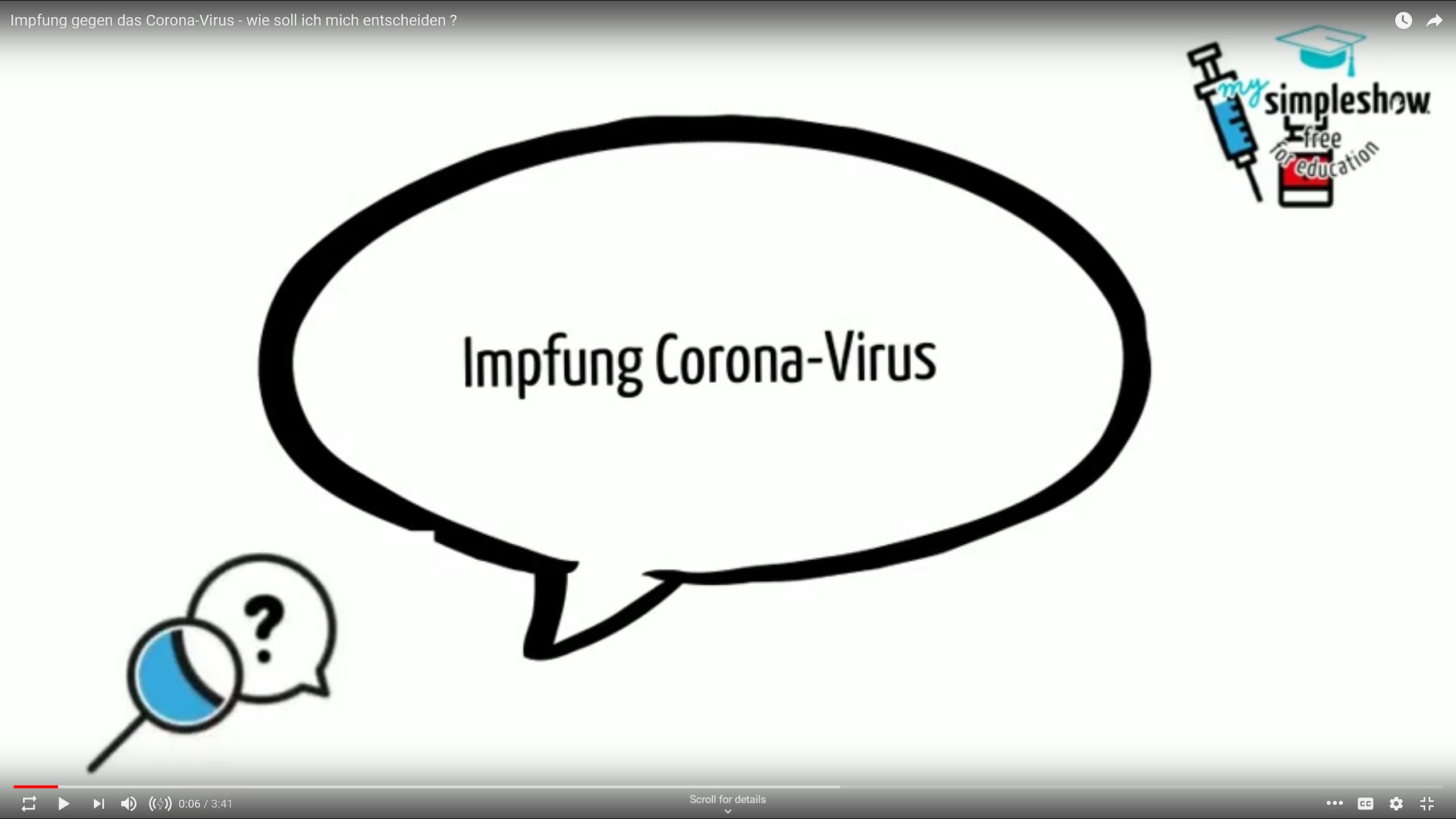 Informationen über die Corona-Impfung